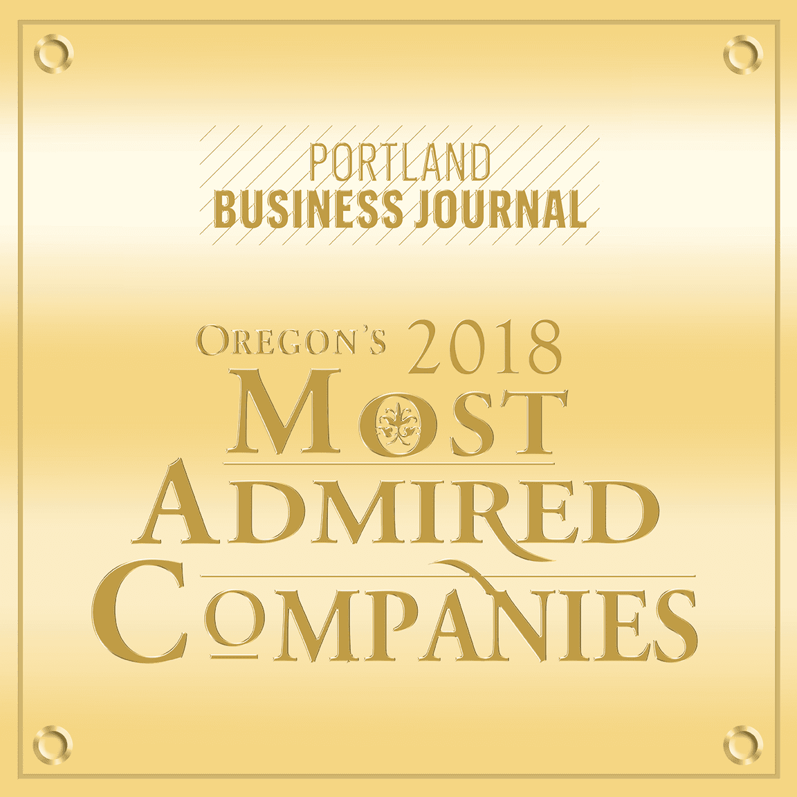 2018 Most Admired Companies | Portland Business Journal